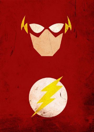 THE FLASH - MINIMAL ART 1 canvas print - self adhesive poster - photo print